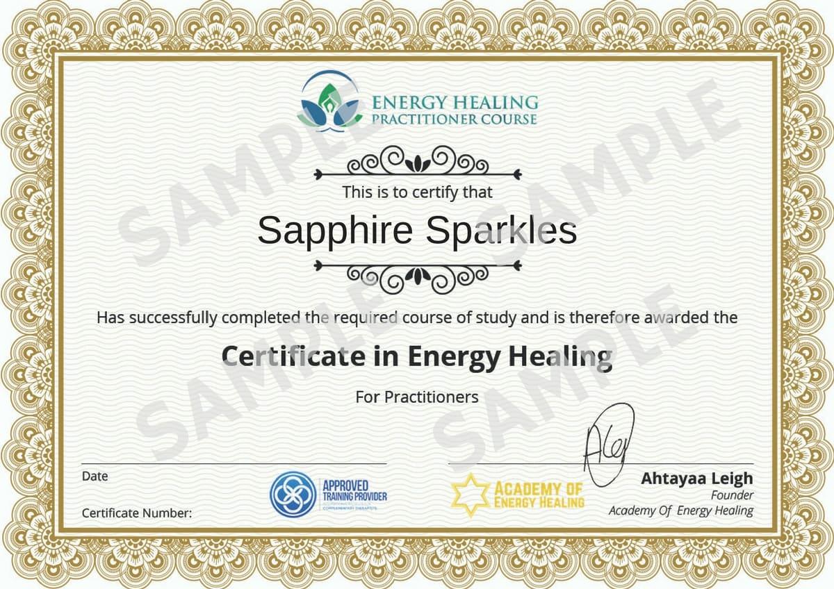training certificate model